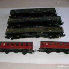 Trenes Escala: LOTE CINCO VAGONES USADOS. Lote 178962752
