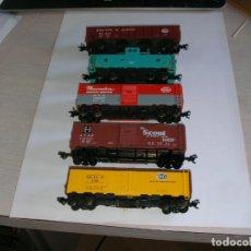 Trenes Escala: LOTE CINCO VAGONES USA. Lote 178964457