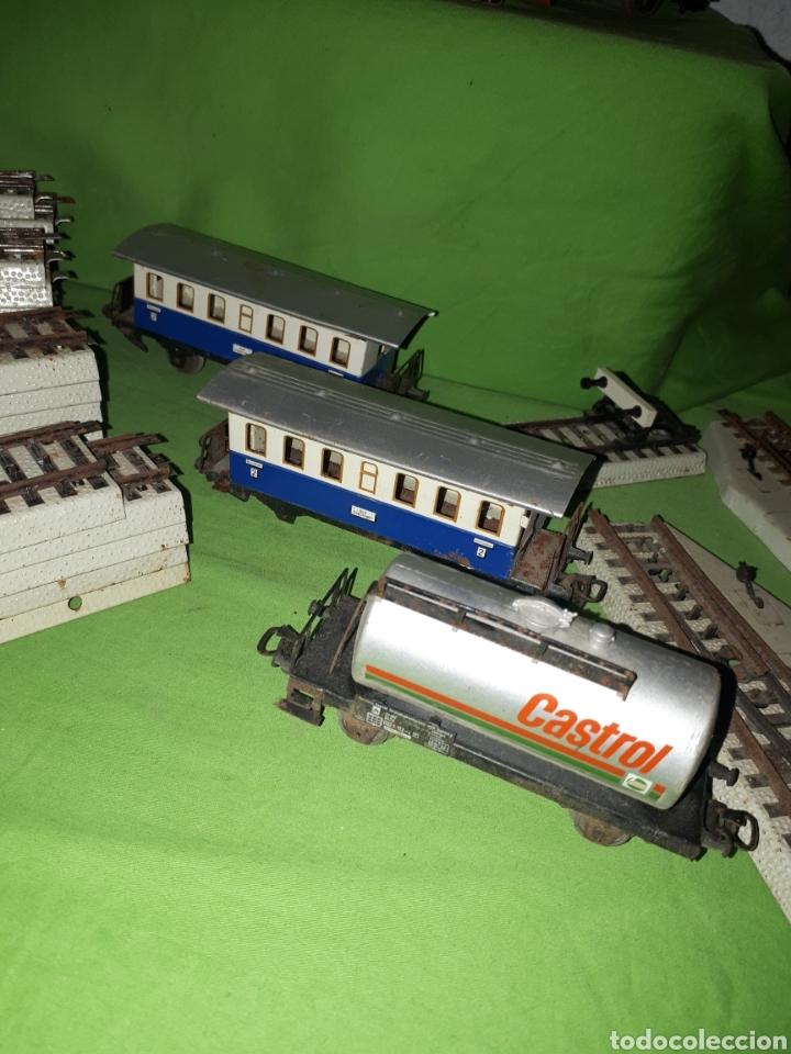 Trenes Escala: Lote MARKLIN vías locomotora y vagones leer descripción - Foto 3 - 179099811