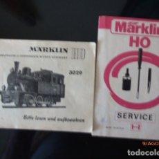 Trenes Escala: FOLLETOS MANTENIMIENTO MAQUINA MARKLING,. Lote 179525663