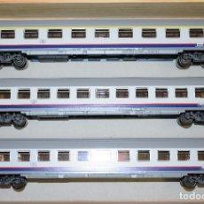 Trenes Escala: MARKLIN H0 SET 3 COCHES EUROFIMA, DE LA SNCB, REFERENCIA 43513 DESCATALOGADO.. Lote 180036763