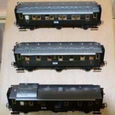 Trenes Escala: MARKLIN H0 SET 3 COCHES (CON LUZ INTERIOR) DE LA DRG, REFERENCIA 43973.. Lote 180037631