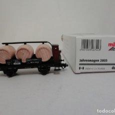 Trenes Escala: MARKLIN H0 46744 INSIDER VAGÓN BARRILES DE VINO AÑO 2003 NUEVO OVP. Lote 182323335