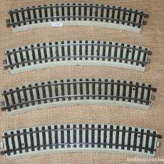 Trenes Escala: LOTE CUATRO VIAS CURVAS H0 MARKLIN REF. 5070. Lote 182880077