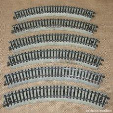 Trenes Escala: LOTE SEIS VIAS CURVAS H0 MARKLIN REF. 5070. Lote 182880635