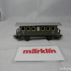Trenes Escala: VAGÓN PASAJEROS 2 EJES METALICO ESCALA HO DE MARKLIN . Lote 182889428