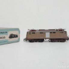 Trenes Escala: MARKLIN H0 3035 TREN ELÉCTRICO E-LOK BR 424 FS ANALÓGICO 1960 EP III VINTAGE. Lote 183442567