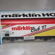 Trenes Escala: VAGÓN MARKLIN AÑO 1987.. Lote 183700302