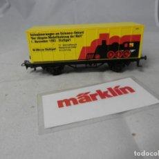 Trenes Escala: VAGÓN PORTACONTENEDOR ESCALA HO DE MARKLIN . Lote 184402296