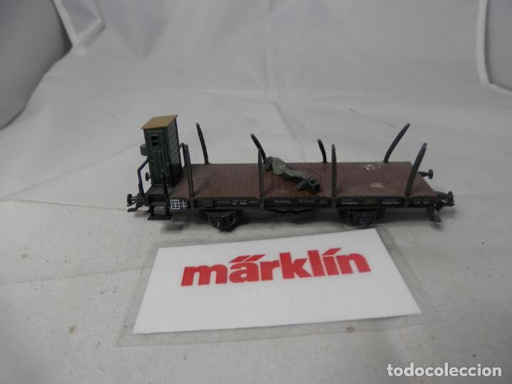 VAGÓN TELERO ESCALA HO DE MARKLIN (Juguetes - Trenes a Escala - Marklin H0)