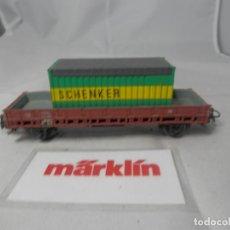 Trenes Escala: VAGÓN BORDE BAJO ESCALA HO DE MARKLIN . Lote 184403885
