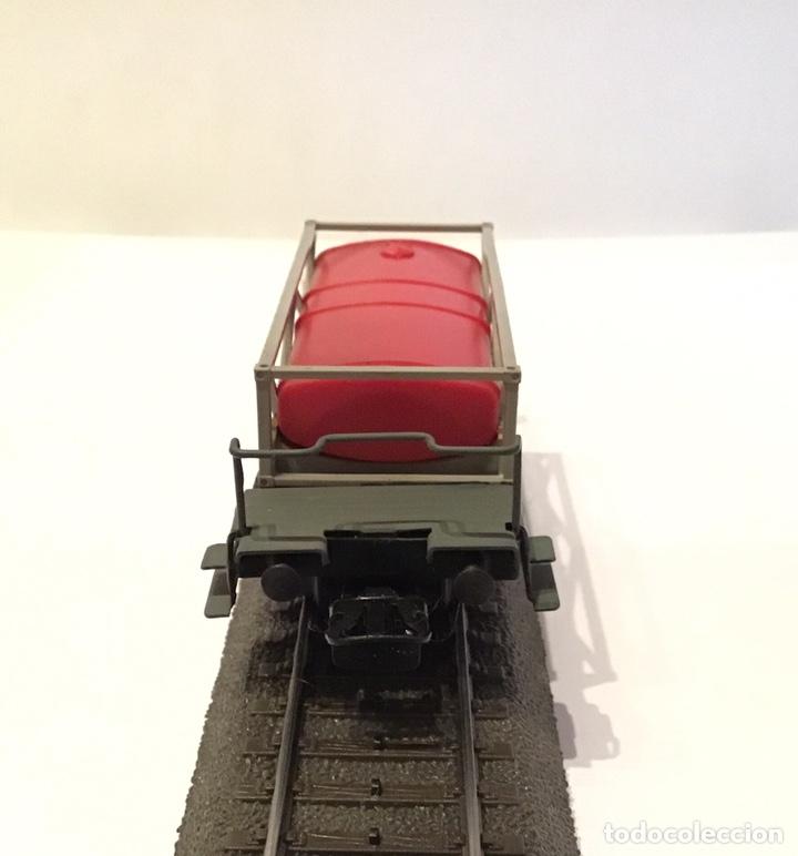 Trenes Escala: VAGÓN MARKLIN H0 DE CISTERNA PLANA. PESADA BASE METÁLICA. ELABORADO ARTESANALMENTE - Foto 3 - 184894767