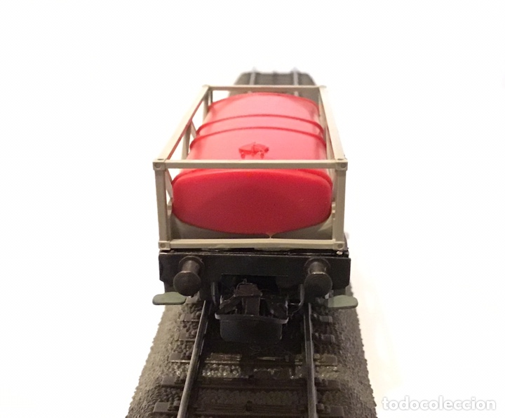 Trenes Escala: VAGÓN MARKLIN H0 DE CISTERNA PLANA. PESADA BASE METÁLICA. ELABORADO ARTESANALMENTE - Foto 6 - 184894767