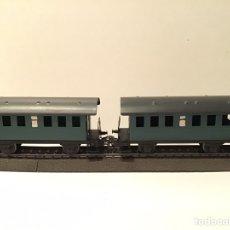 Trenes Escala: JIFFY VENDE DOS VAGONES MARKLIN H0 DE PASAJEROS.. Lote 185933590