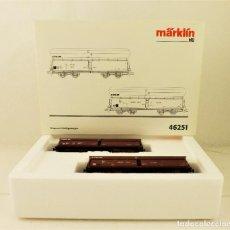 Trenes Escala: MARKLIN 46251 SET VAGONES CARGA COFRE CFL. Lote 188508672