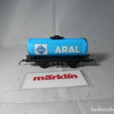 Trenes Escala: VAGÓN CISTERNA ARAL ESCALA HO DE MARKLIN . Lote 191330833