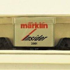 Trenes Escala: MARKLIN 46181 VAGÓN PLATAFORMA ANIVERSARIO INSIDER 2001. Lote 191740637