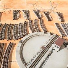 Comboios Escala: MARKLIN LOTE VIAS M Y BASE GIRATORIA. Lote 192553980