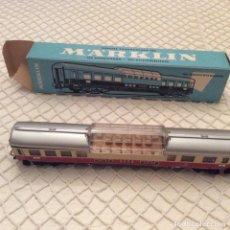 Trenes Escala: VAGÓN-TREN-MARKLIN-REF-4090-COCHE-PASAJEROS.EN SU CAJA ORIGINAL. FABRICADO EN ALEMANIA OCCIDENTAL. Lote 194088510