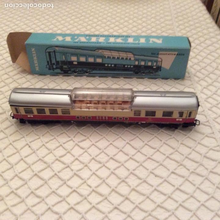 Trenes Escala: vagón-tren-marklin-ref-4090-coche-pasajeros.En su caja original. Fabricado en Alemania occidental - Foto 2 - 194088510
