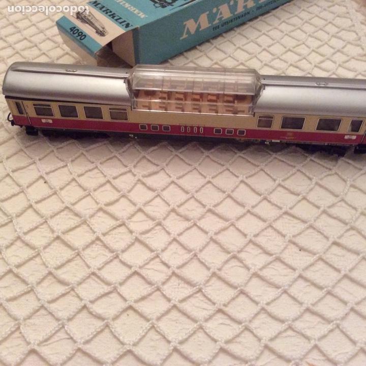 Trenes Escala: vagón-tren-marklin-ref-4090-coche-pasajeros.En su caja original. Fabricado en Alemania occidental - Foto 3 - 194088510