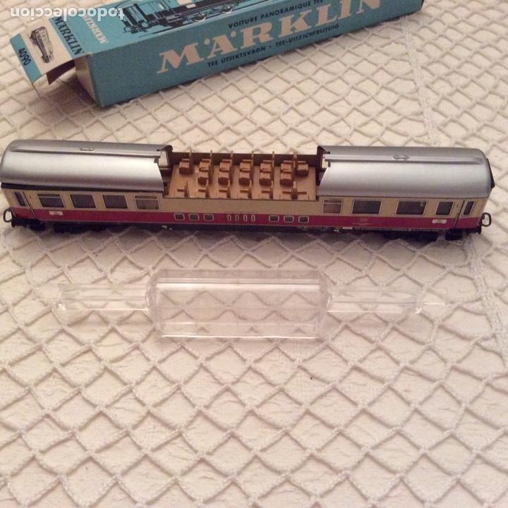Trenes Escala: vagón-tren-marklin-ref-4090-coche-pasajeros.En su caja original. Fabricado en Alemania occidental - Foto 4 - 194088510