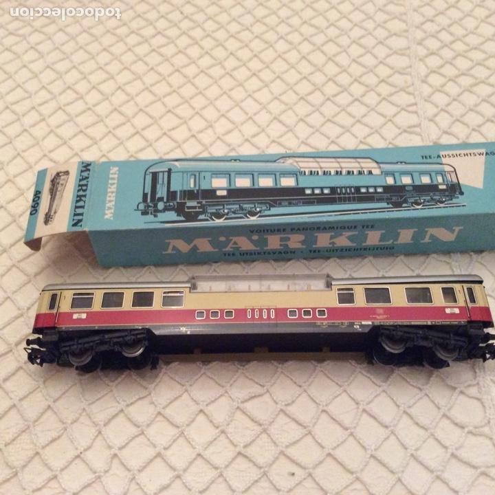 Trenes Escala: vagón-tren-marklin-ref-4090-coche-pasajeros.En su caja original. Fabricado en Alemania occidental - Foto 5 - 194088510
