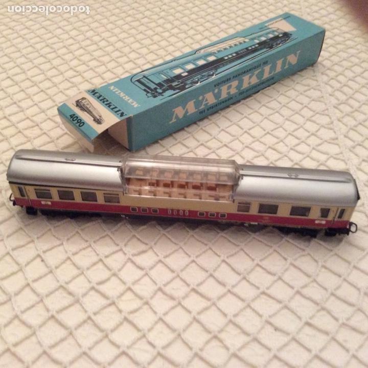 Trenes Escala: vagón-tren-marklin-ref-4090-coche-pasajeros.En su caja original. Fabricado en Alemania occidental - Foto 6 - 194088510