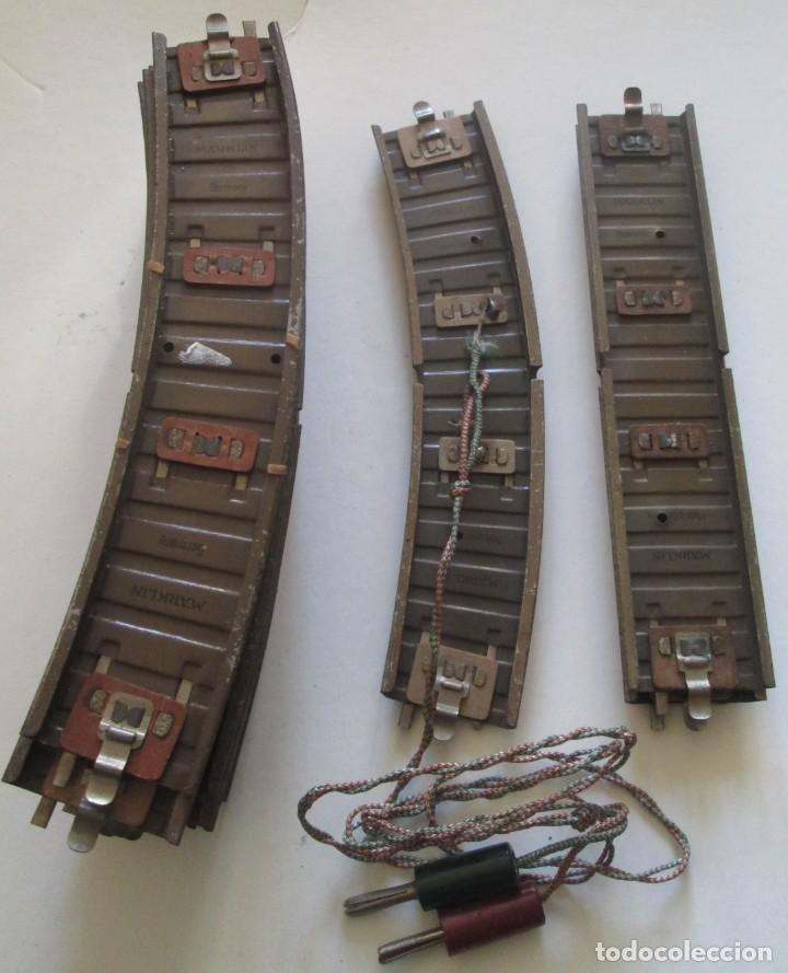 Trenes Escala: Pequeño lote de 14 antiguas vías para tren Marklin. 12 curvas y 2 rectas - Foto 2 - 194488740