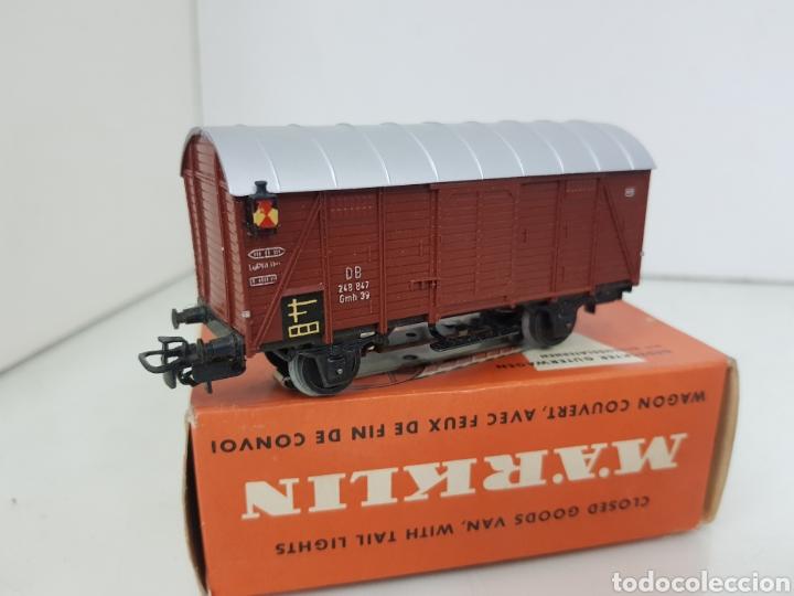 Trenes Escala: Marklin 4506 vagón de mercancías de plástico con luz de color marrón y 11 cm corriente alterna - Foto 3 - 195210401