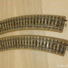 Trains Échelle: 2 TRAMOS CURVO VIA MARKLIN HO - CURVA 5100 - 18 CM. 1/1 - . Lote 196188237