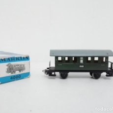 Comboios Escala: MARKLIN H0 4000 VAGÓN PASAJEROS SEGUNDA CLASE DE METAL PERFECTO ESTADO CON CAJA. Lote 196475167