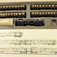 Trenes Escala: MARKLIN 4228 RHEINGOLD SET COMPLETO (METAL). Lote 196930268