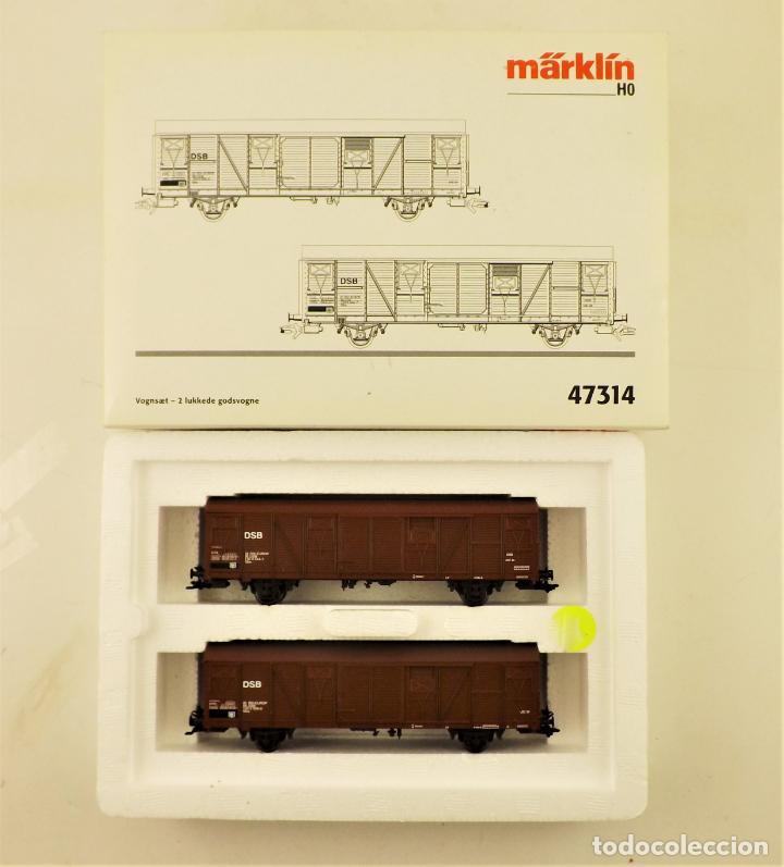 MARKLIN 47314 SET VAGONES DE CARGA CERRADOS (Juguetes - Trenes a Escala - Marklin H0)