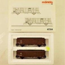 Trenes Escala: MARKLIN 47314 SET VAGONES DE CARGA CERRADOS. Lote 197345285