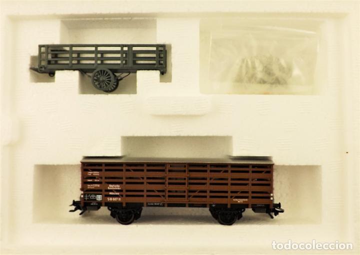 Trenes Escala: Marklin 46162 Set vagones ganado con animales - Foto 2 - 197345698