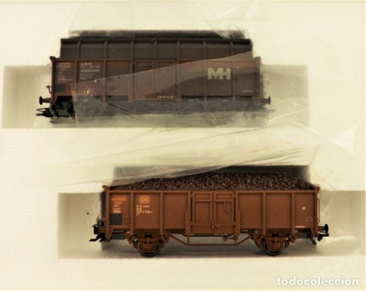 Trenes Escala: Marklin 47875 Set vagonetas carga mineral, con carga - Foto 2 - 216960978