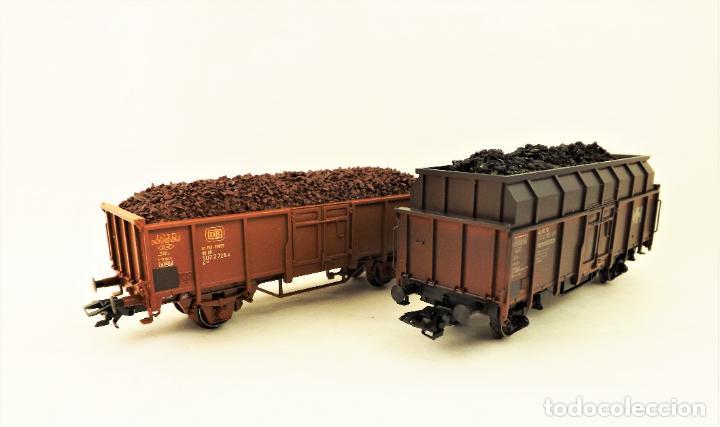 Trenes Escala: Marklin 47875 Set vagonetas carga mineral, con carga - Foto 3 - 216960978
