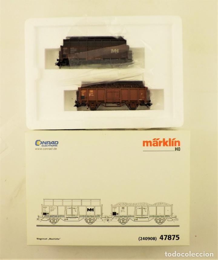 MARKLIN 47875 SET VAGONETAS CARGA MINERAL, CON CARGA (Juguetes - Trenes a Escala - Marklin H0)
