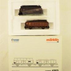 Trenes Escala: MARKLIN 47875 SET VAGONETAS CARGA MINERAL, CON CARGA. Lote 216960978