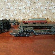 Comboios Escala: ANTIGUA LOCOMOTORA TREN MARKLIN 89028 CON DIFIRENTES VAGONES, TAL CUAL SE VE.. Lote 197407778