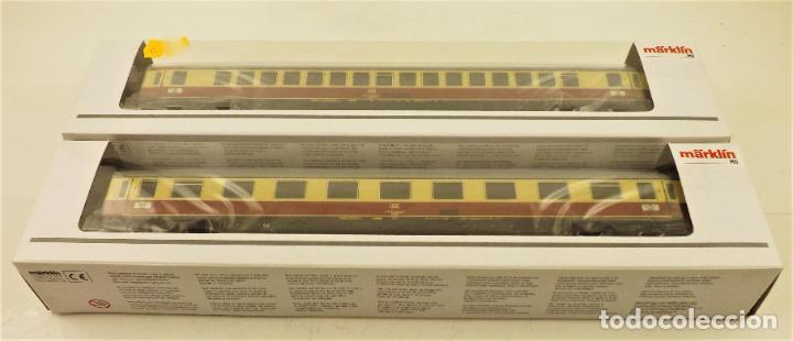 MARKLIN 43855 Y 43865 COCHES DE PASAJEROS TEE (Juguetes - Trenes a Escala - Marklin H0)