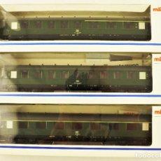 Trenes Escala: MARKLIN 43210 + 43220 + 43200 COCHES DE PASAJEROS DB. Lote 198677535
