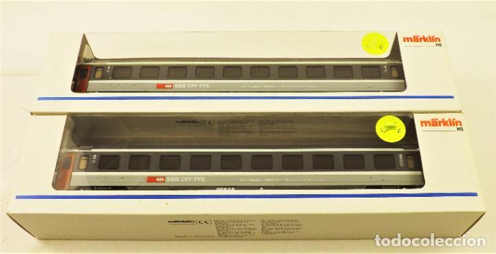 MARKLIN 4368 + 4369 COCHES DE PASAJEROS SBB EUROCITY (Juguetes - Trenes a Escala - Marklin H0)