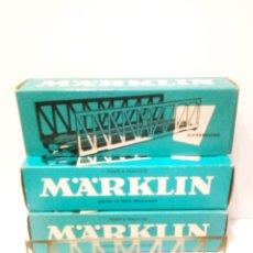 Trenes Escala: 3 PUENTES METALICOS MARKLIN 7162 H0 VIA M. IMPECABLES.. Lote 199332971