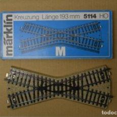 Trenes Escala: MARKLIN H0 VIA DE CRUZAMIENTO, REFERENCIA 5114.. Lote 199863070