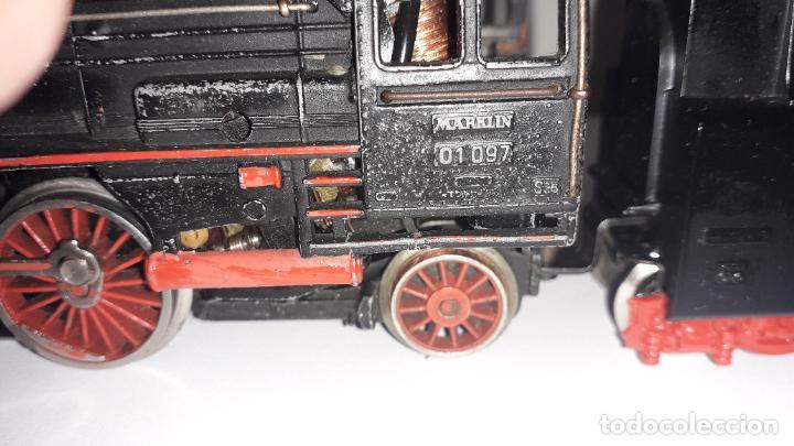 Trenes Escala: MARKLIN LOCOMOTORA VAPOR REF. 01097 CON PATIN , TREN ANTIGUO, TREN DE JUGUETE - Foto 29 - 229873980