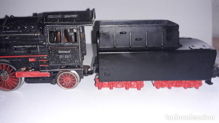 Trenes Escala: MARKLIN LOCOMOTORA VAPOR REF. 01097 CON PATIN , TREN ANTIGUO, TREN DE JUGUETE - Foto 30 - 229873980