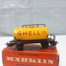 Trenes Escala: VAGON MARKLIN 4502 SHELL. Lote 200583773