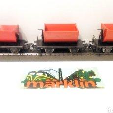 Trenes Escala: 3 VAGONES TOLVA MARKLIN H0. VAGÓN DE MERCANCÍAS.. Lote 185929527